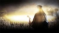 Müslüman topluluğa karşı Halife Hz. Ömer'in hutbesinin bir tasviri görüntüsü