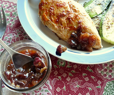Gooseberry Chutney with Chicken