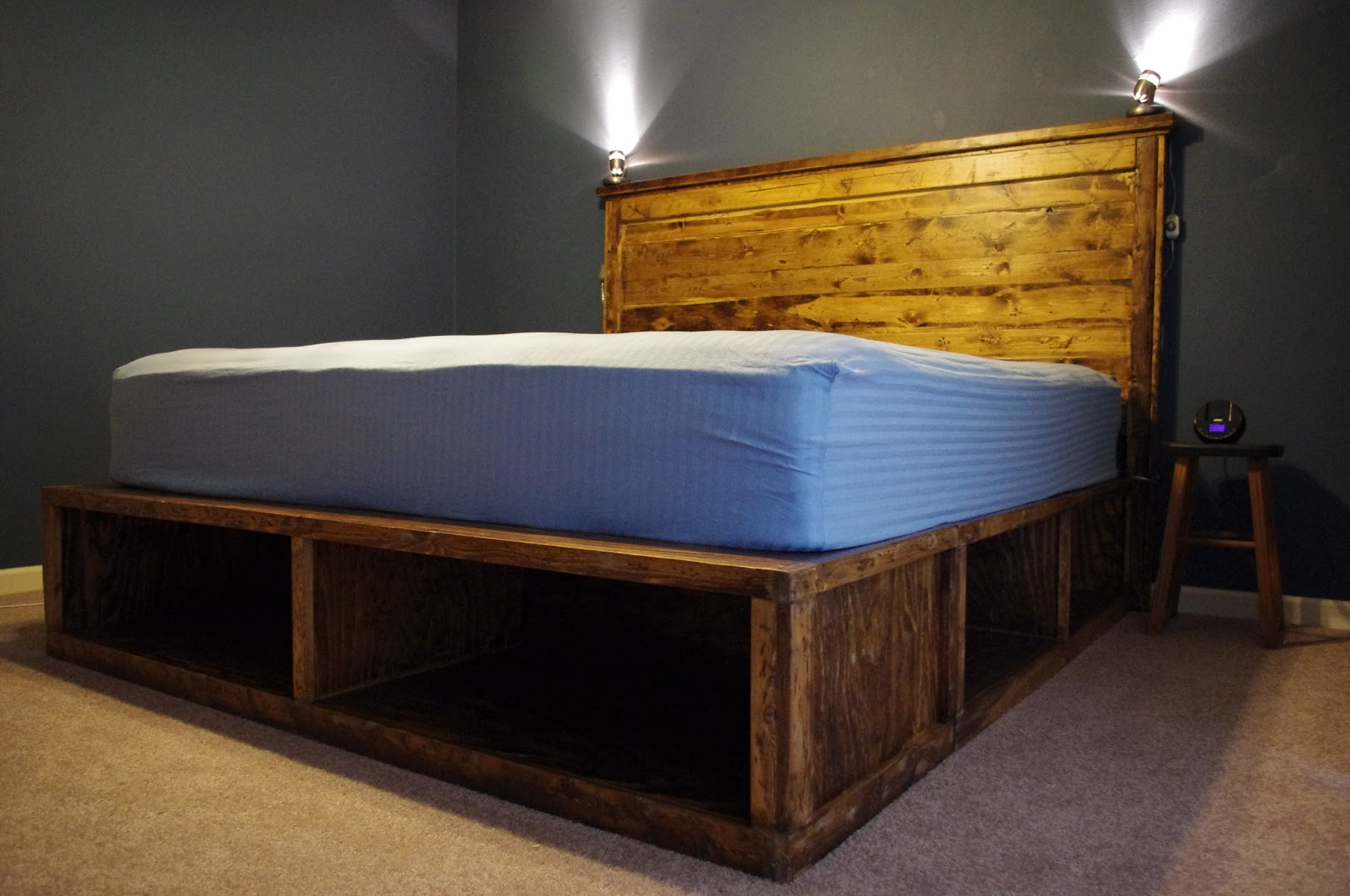How To Make Your Own Platform Bed With Headboard, How…   Wood ...