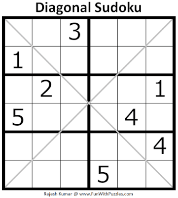 Diagonal Sudoku (Sudoku for Kids #1)