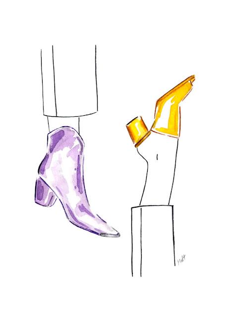 watercolor shoes illustration