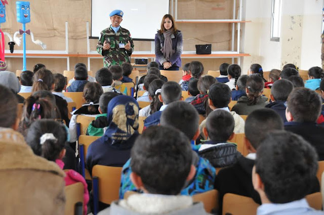 Satgas Kontingen Garuda Unifil Kunjungi School Engagement