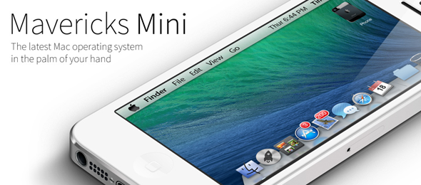 Mavericks Mini Theme iPhone, iPad, iPod touch