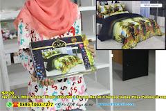 Sprei Zara Wild Leopard Single 120×200 1 Sarung Bantal 1 Sarung Guling Hijau Kuning Orange Jingga Binatang 3D Dewasa Polyester