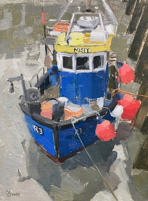 #211 'Misty, Whitstable Harbour' 18x24cm