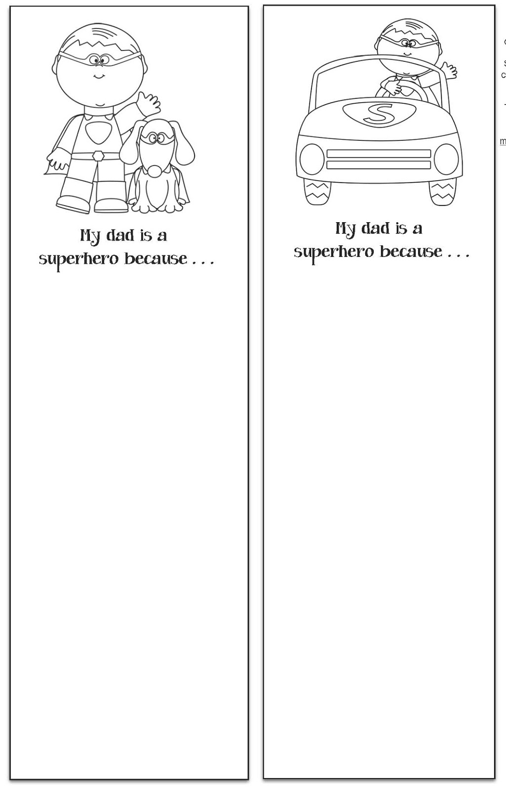 worksheet Dads Worksheet all grade worksheets dads classroom freebies my a superhero writing prompt