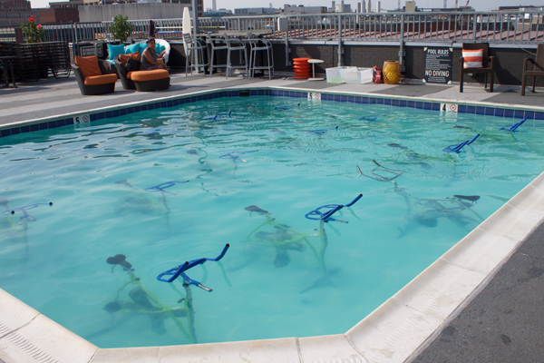 Naturally Me, Splash Cycle, Splash Cycle Class, Splash Cycle Review, DC Workouts, Fitfam, DC events, DC blogger, Embassy Row Hotel, Embassy Row Hotel Rooftop Pool, Splash Cycle Bikes
