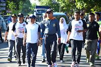Sambut Pilkada Serentak, KPU Kabupaten Bima Adakan Gerak Jalan Santai