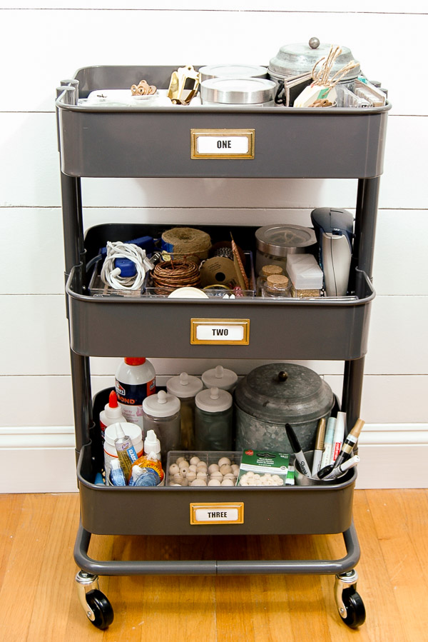 organizing craft supplies with ikea s raskog utility cart how to turn a dresser into a kitchen island hometalk