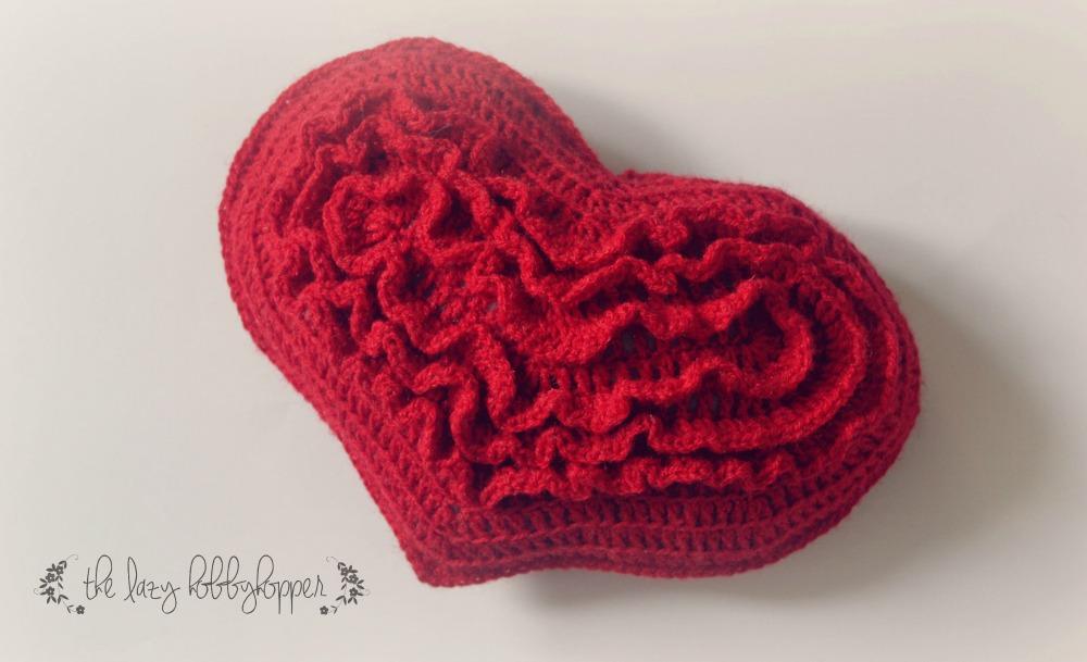 The Lazy Hobbyhopper Crochet Heart Free Pattern