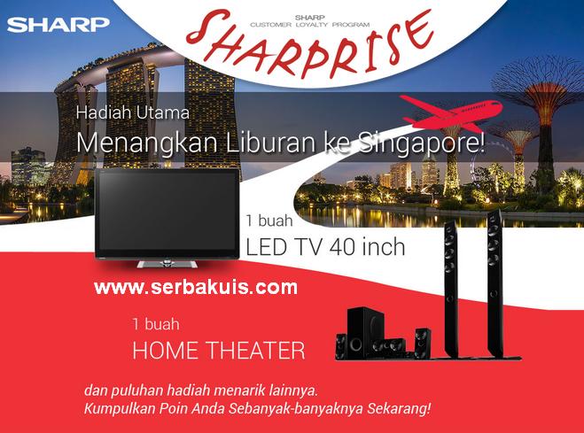 Kontes Poin Sharprise Berhadiah SHARP LED TV 40 Inch