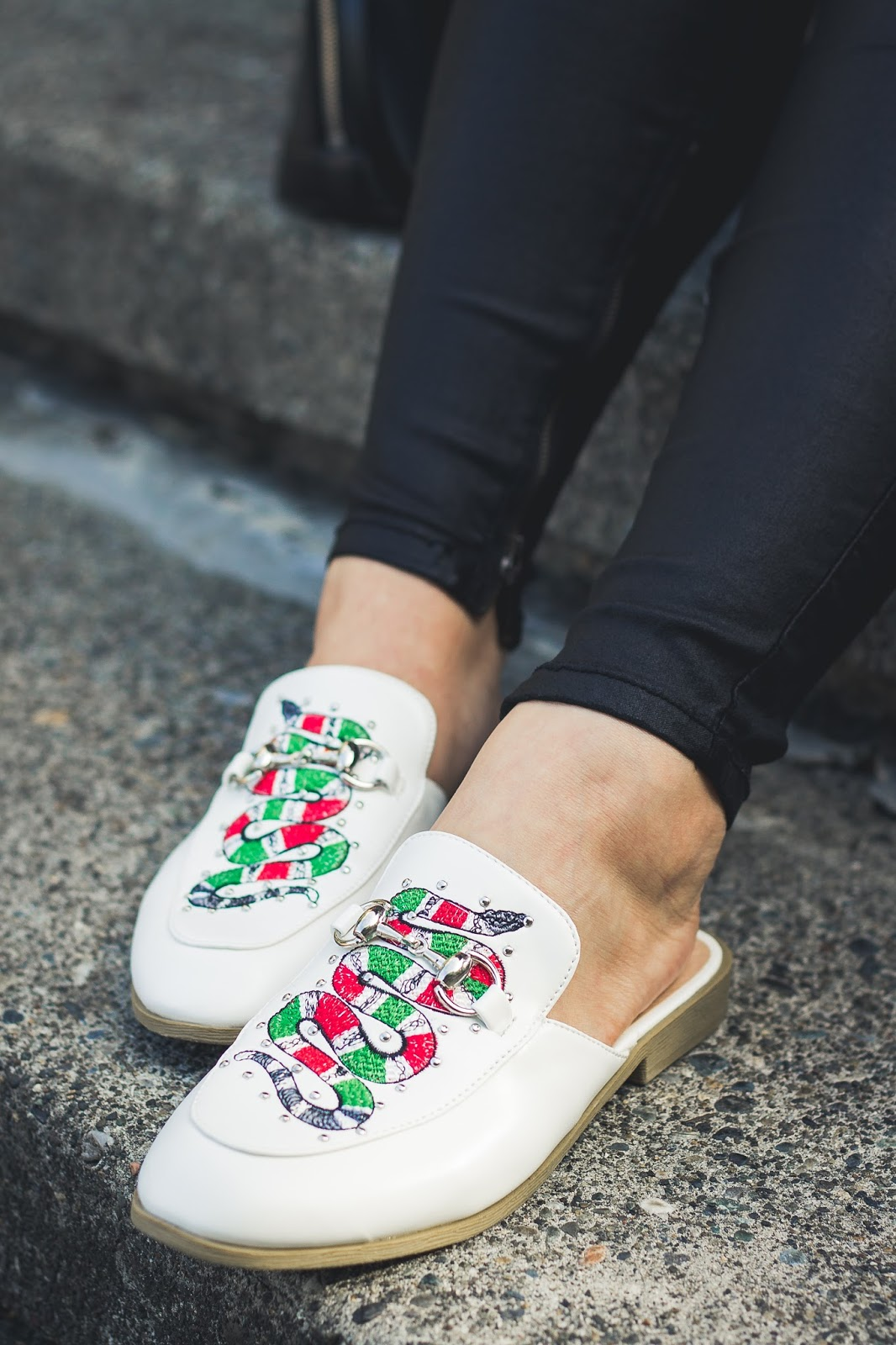 white shoes slip on seattle fashion blogger