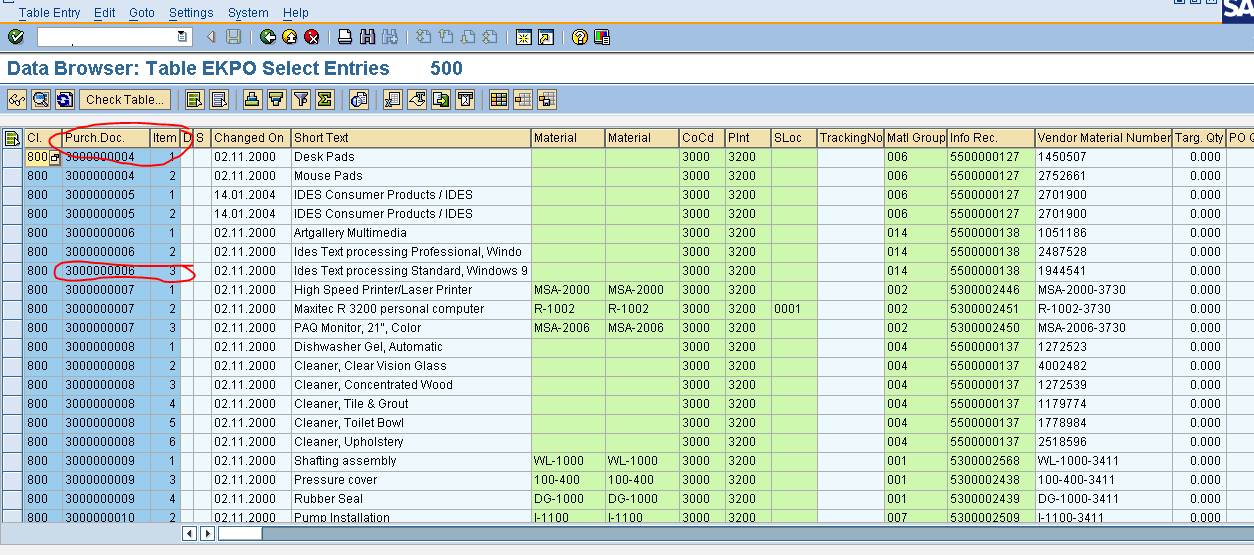 SAP TECH: To get the Goods Receipt ( GR ) Document number based on