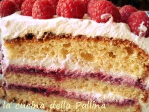 Torta Panna E Lamponi La Cucina Della Pallina