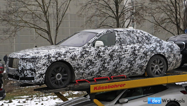 次期型の「ロールス・ロイス・ゴースト」の開発車両が目撃!10年ぶりのモデルチェンジへ。