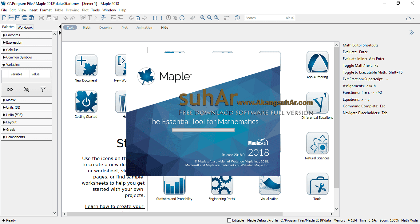 Gratis Download Maplesoft Maple 2018 Full Crack Terbaru, Maplesoft Maple 2018 Activation Code, Maplesoft Maple 2018 Serial Number