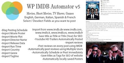 CodeCanyon - WP IMDB Automator v5 Wordpress Plugin