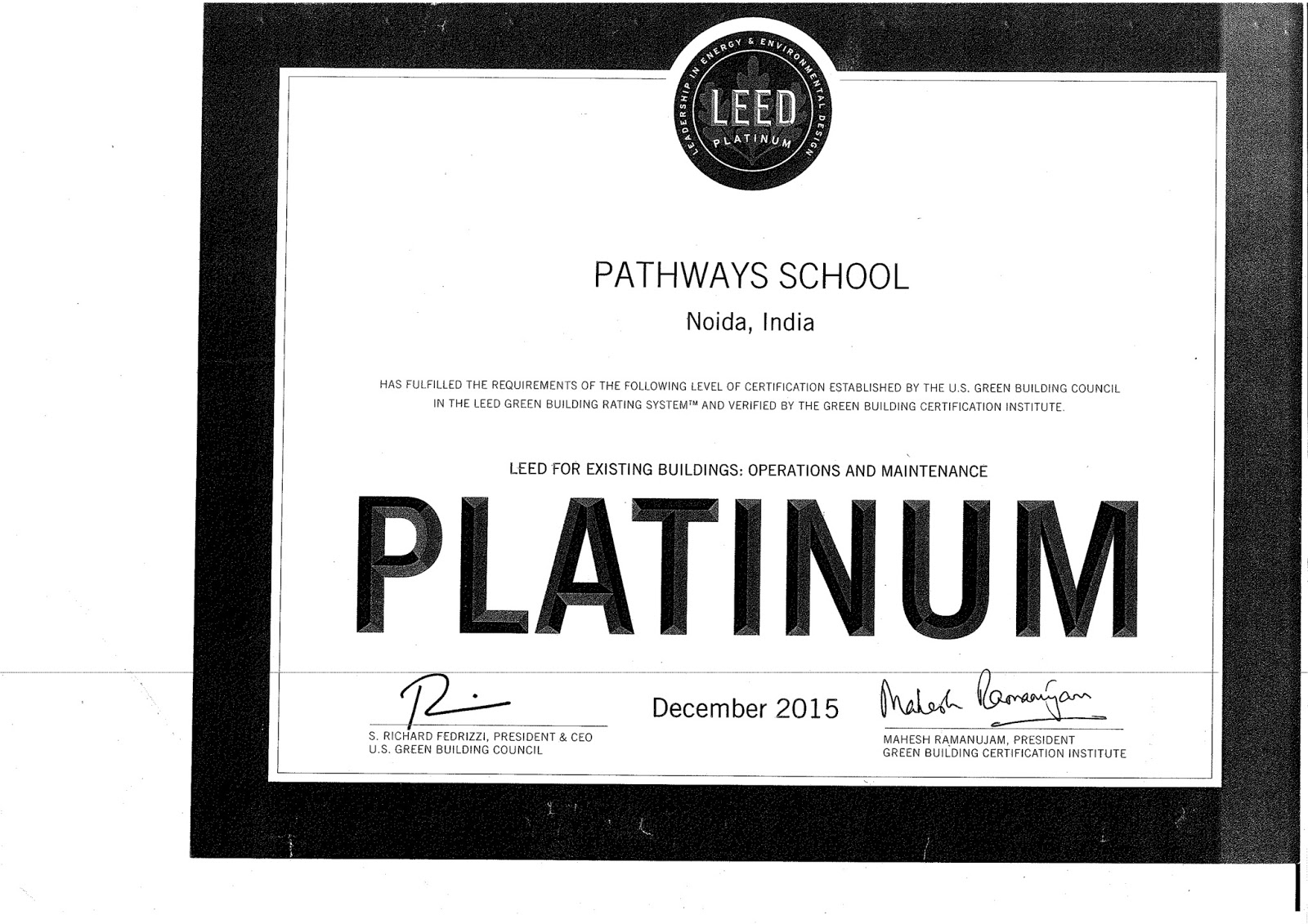 Pathways school noida february 2016 the pathways schools are a landmark in living the idea of energy conservation and green technology we were recently awarded the leed green certification xflitez Image collections