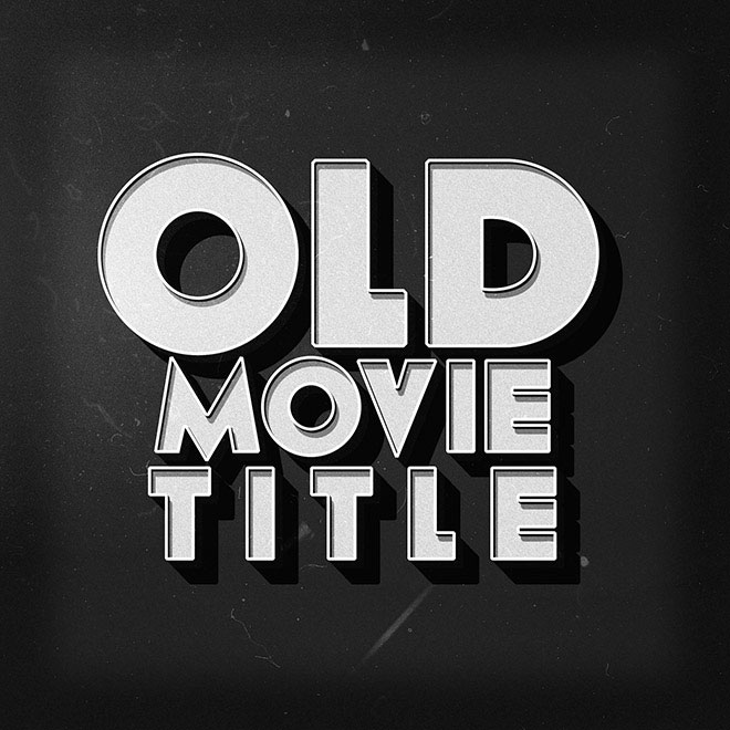 Old Movie Text Effect PSD