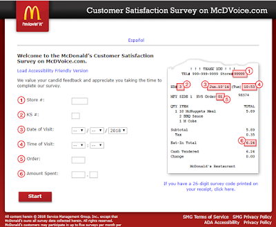 mcdonalds customer survey