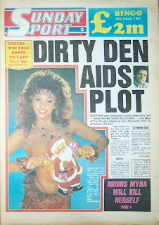 Photo of Maria Whittaker on the front cover of the Sunday Sport