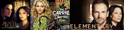 Elementary, The carrie diaries, Beauty and the beast