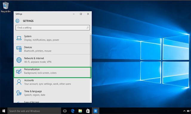 personalization Windows 10