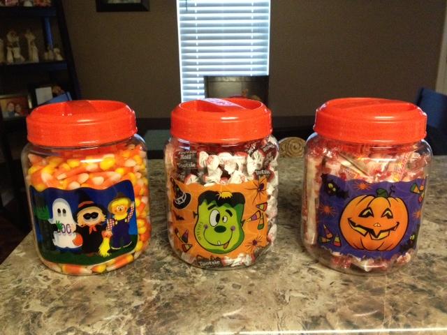 Polka Dots Pencils Halloween Estimation Jars