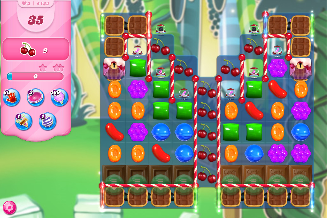Candy Crush Saga level 4124
