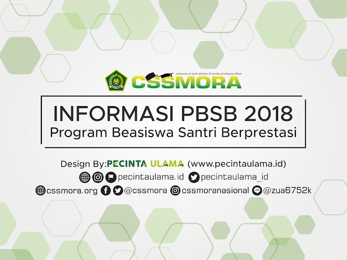 Informasi Program Beasiswa Santri Berprestasi (PBSB) 2018