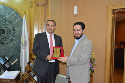 HONORING PRESIDENT OF MANSOURA UNIVERSITY'S PROF. / AHMED EL REFAEY DIRECTOR OF CHILDREN'S HOSPITAL