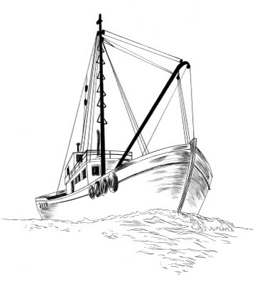 Fishing Boat How To Draw A Fishing Boat