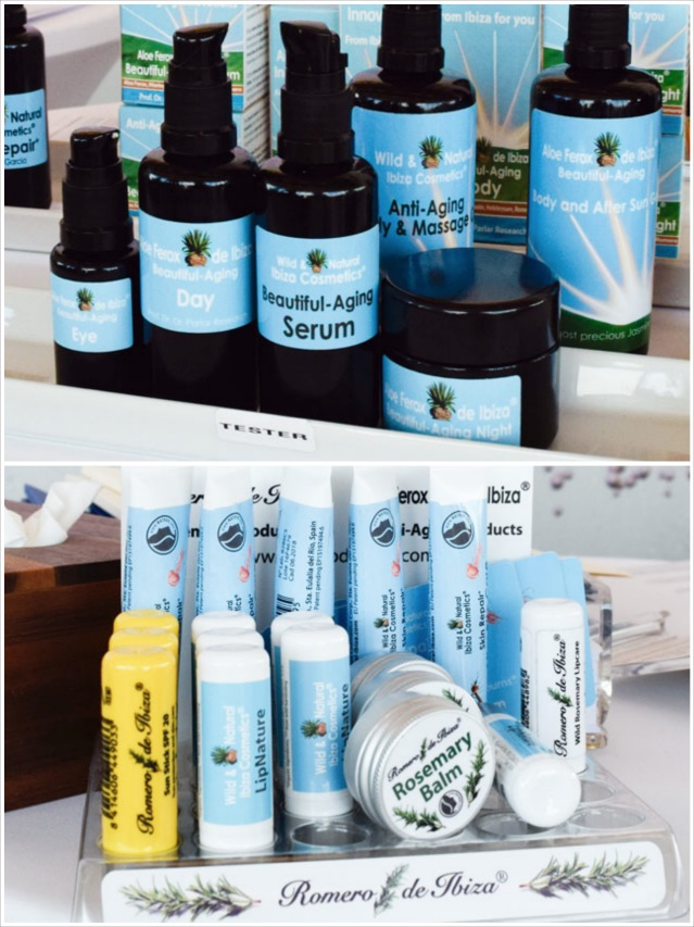 Neue Prodkte von wild and natural ibiza auf dem beautypress Bloggerevent