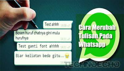 Cara Menciptakan Goresan Pena Whatsapp Menjadi Tebal, Miring Dan Bergaris Di Hp Android