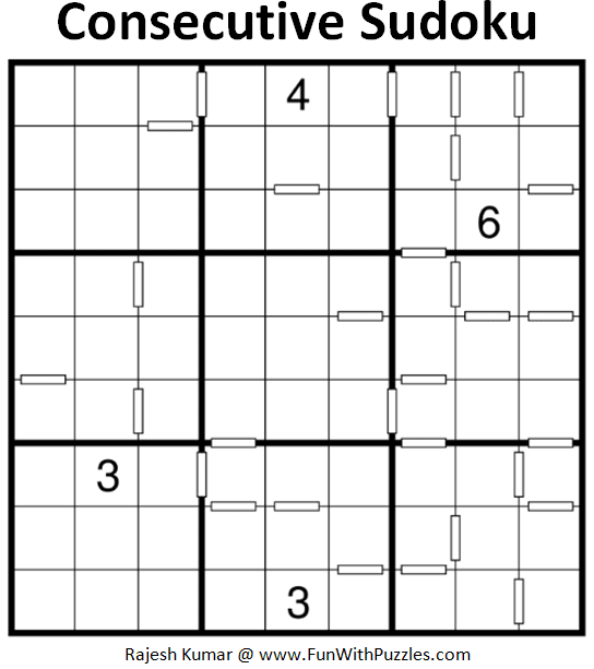 Consecutive Sudoku Puzzle (Fun With Sudoku #284)