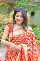 Sakshi Agarwal  in Orange Saree at Inauguration of Handloom And Handicraft exhibition ~  Exclusive 14.JPG