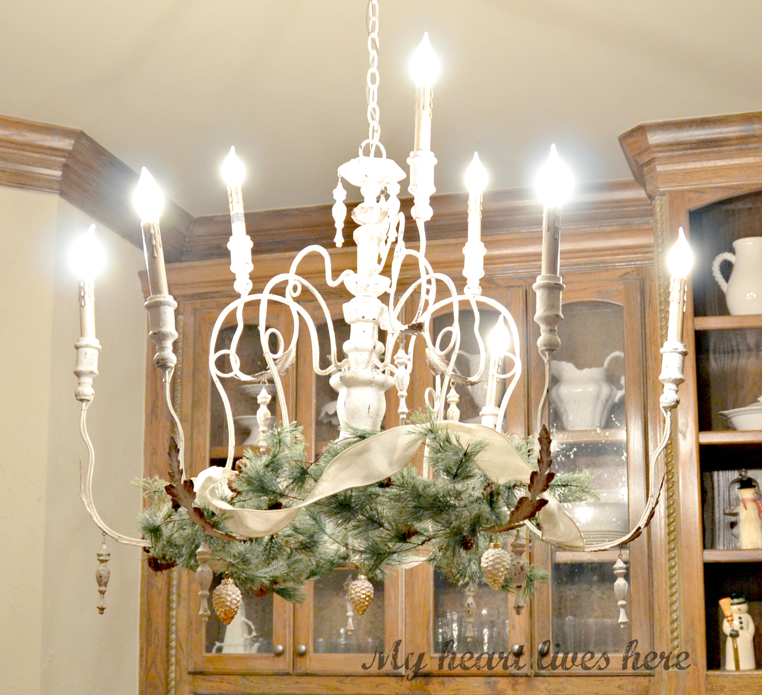 All I Knew Was That Wanted Something Light And Airy For This Breakfast Room Fixture