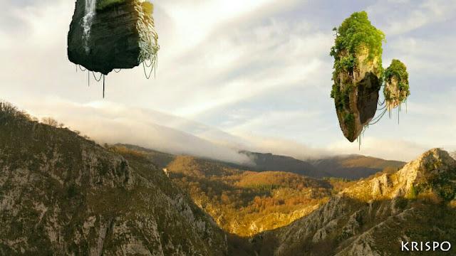 montañas flotantes y montañas