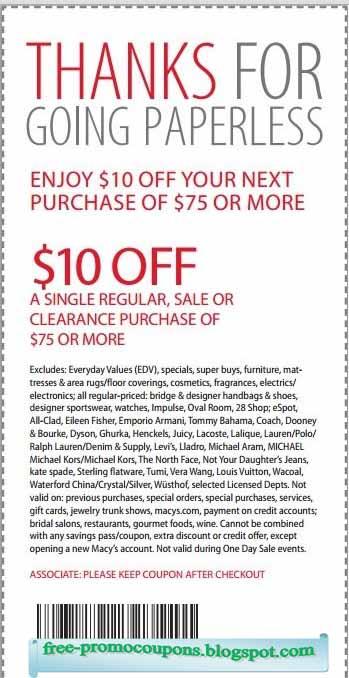 printable macys coupon
