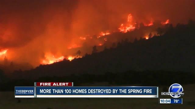 Spring Creek Fire In Castilla And Las Animas Counties