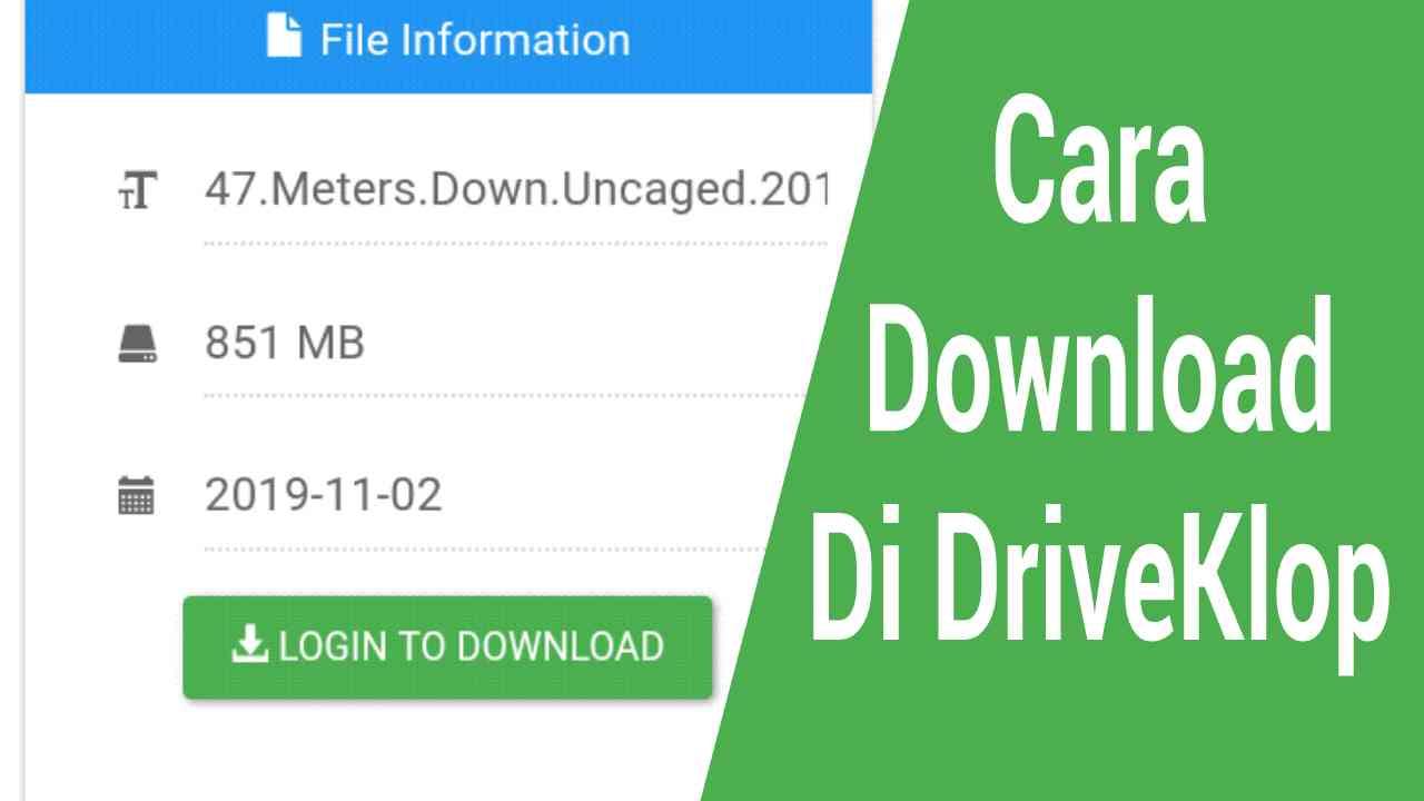 Cara download di DriveKlop