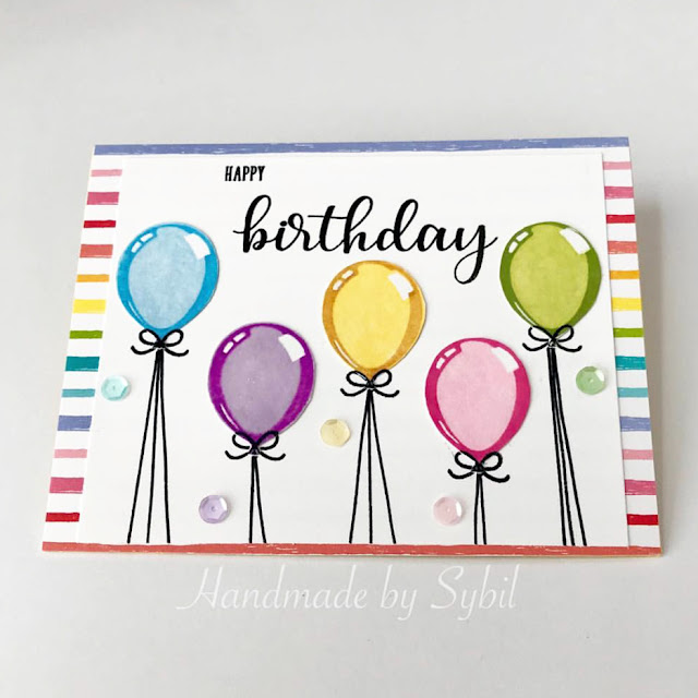 Sunny Studio Stamps: Birthday Balloon Customer Card by Sybil Stephens
