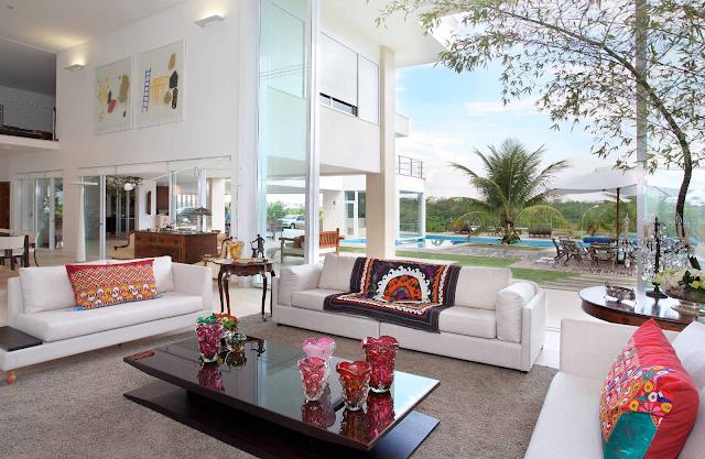 Mezanino Com Sala De Tv ~ Construindo Minha Casa Clean Ambientes com PéDireito Duplo e