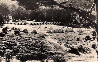 Campamento juvenil en Cercedilla - años 70