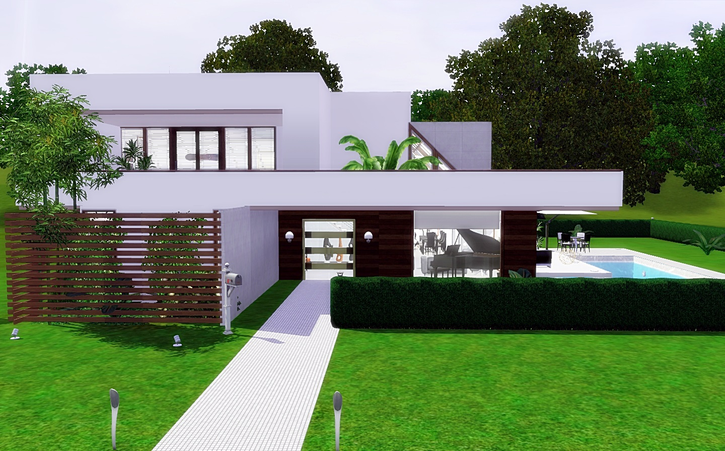Modern Cozy - House The Sims 3 - Via Sims