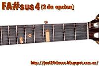 FA#sus4 = SOLbsus4 2da posicion