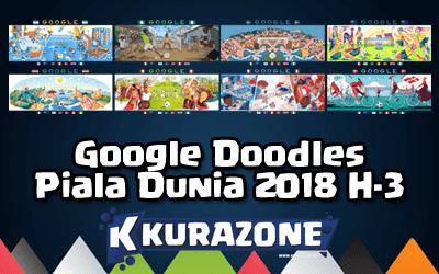 Google Doodles - Piala Dunia 2018 H-3