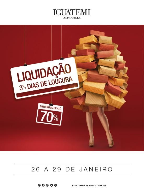 Liquidação 3 ½ Dias de Loucura atrai o público com descontos de até 70% nas lojas do Iguatemi Alphaville
