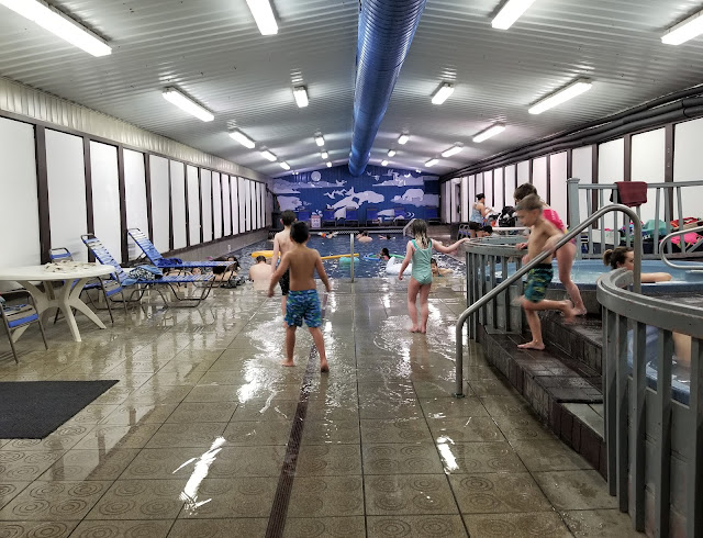 kids are enjoying Indoor pool and hot tub at Chena Hot Springs Resort