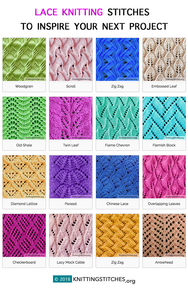 Lace Knitting Stitch Patterns to Inspire Your Next Project. Learn how to knit lace and follow easy lace knitting patterns